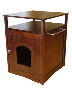 Merry Pet Products Pet House, Litterbox Cover and Night Stand, Walnut, 20.5