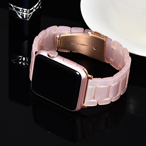 45685719d1f ... V-Moro Apple Watch Band 38mm Women Men- Fashion Resin iWatch Band  Bracelet With ...
