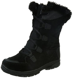 Columbia Women's Ice Maiden II Snow Boot, Black, Grey, 7.5 B US