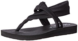 Skechers Cali Women's Meditation Studio Slingback Yoga Flip-Flop,Black,8 M US