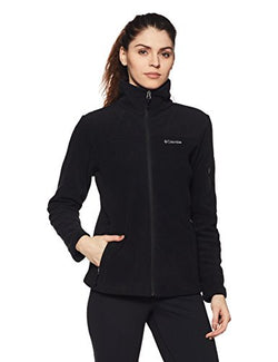 Columbia Women's Fast Trek Ii Full Zip Fleece Jacket Outerwear, black, M