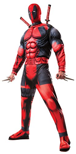 Marvel Rubie's Men's Universe Classic Muscle Chest Deadpool Costume,Multi-Colored,Standard