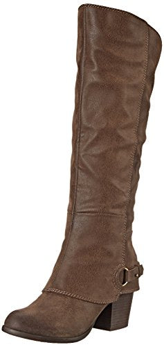 Fergalicious Women's Lexy Western Boot,Taupe, 9 M US