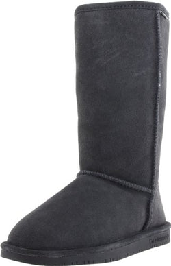BEARPAW Women's Emma Tall Winter Boot, Charcoal, 7 M US