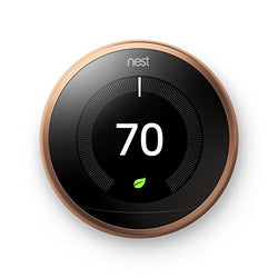 Nest Learning Thermostat, Easy Temperature Control for Every Room in Your House, Copper (Third Generation)