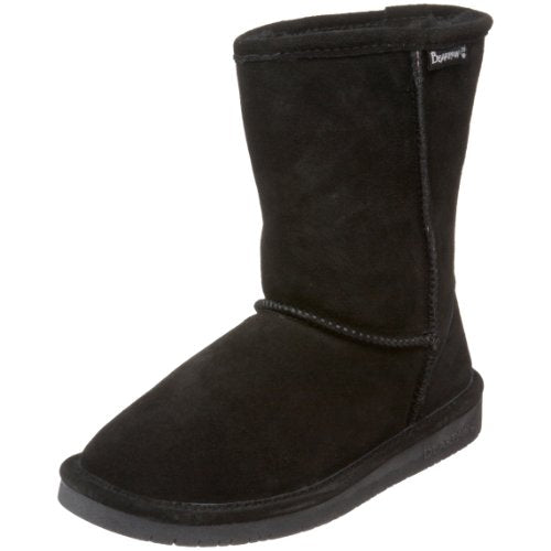 BEARPAW Women's Emma Short Boot,Black,9 M US
