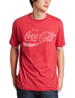 Mad Engine Men's Coca Cola Coke Classic T-Shirt, Red Heather, Large
