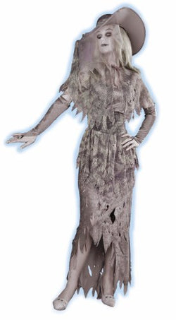 Forum Novelties GHOSTLY GAL, Standard (14-16), Gray/White
