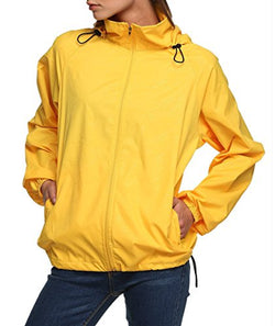Lanbaosi Women's Lightweight Jacket UV Protect+Quick Dry Windproof Skin Coat Golden yellow Size L