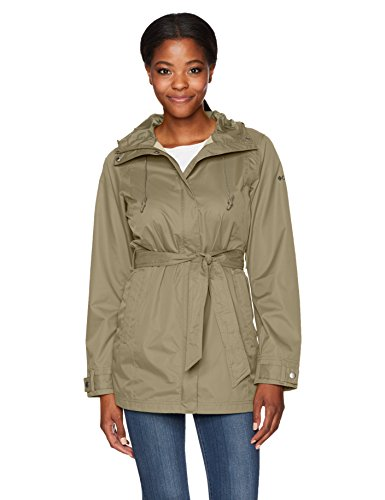 Columbia Women's Pardon My Trench Rain Jacket, Sage, L
