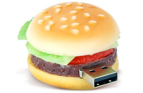D-CLICK® High Quality 4GB/8GB/16GB/32GB/64GB/Cool USB High speed Flash Memory Stick Pen Drive Disk (8GB, Hamburger)