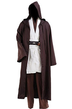 CosplaySky Star Wars Jedi Robe Costume Obi-Wan Kenobi Halloween Outfit Medium
