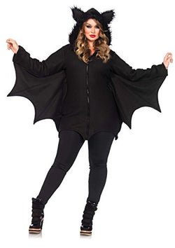 Leg Avenue Women's Cozy Bat Costume, Black, Large