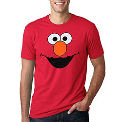 Sesame Street Elmo Face Adult T-Shirt-Large