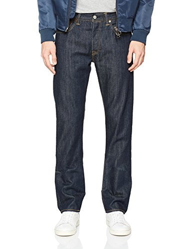 Levi's Men's 501 Dark Straight Fit Marlon Denim Jeans 34W x 30L Blue (Marlon)