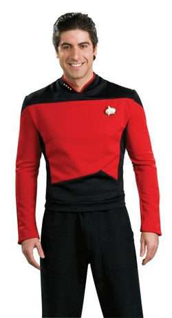 Star Trek the Next Generation Deluxe Red Shirt, Adult Large Costume