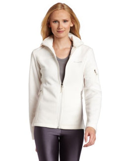 Columbia Women's Fast Trek II Full Zip Fleece Jacket, Sea Salt, Large