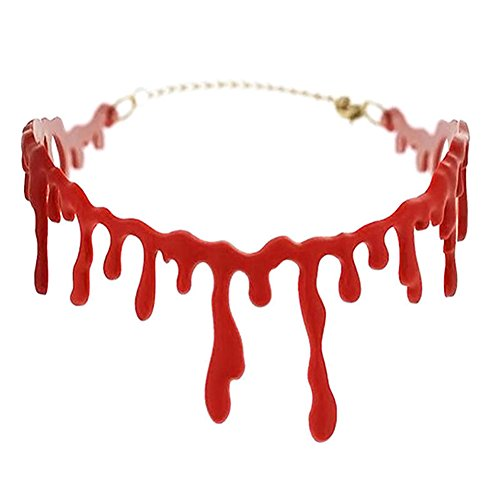 Dripping Blood Halloween Party Choker Necklace Vampire Costume Accessory