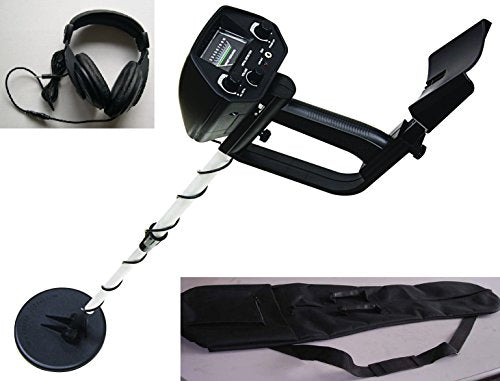American Hawks Explorer Metal Detector Arm Support, View Meter, Waterproof Search Coil with Headphone, Bag, Batteries