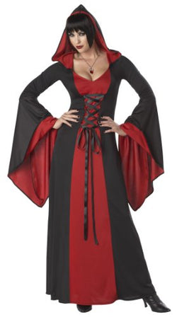 California Costumes Deluxe Hooded Robe Adult Costume, Red/Black, X-Large