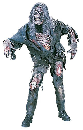Fun World Men's Complete 3D Zombie Costume, Grey, One Size