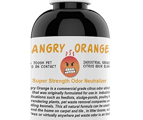 Angry Orange Pet Odor Eliminator 8 oz. bottle- Industrial Strength Pet Odor Remover - Makes (4) 32oz. Bottles - 1 Gallon - Neutralizes and Sanitizes Tough Pet Odors Fast
