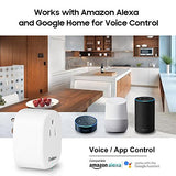 2in1 Automation WiFi Smart Plug Works with Amazon Alexa Echo Google Home USB Charger Outlet Timer No Hub Required Smart Socket Switch On/Off Homekit Switch Smart Home Automation OADEEM (02white)