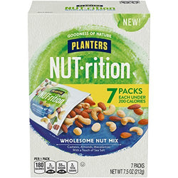 Planters Nutrition Wholesome Nut Mix Pack, 7.5 oz - 7-Pack