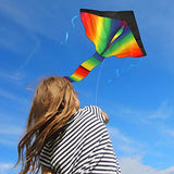 aGreatLife Huge Rainbow Kite For Kids - One Of The Best Selling Toys For Outdoor Games and Activities - Good Plan For Memorable Summer Fun - This Magic Kit Comes w/100% Satisfaction