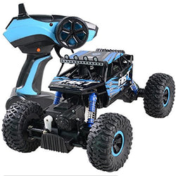Naladoo 4WD RC Monster Truck Off-Road Vehicle 2.4G Remote Control Buggy Crawler Car (Blue)