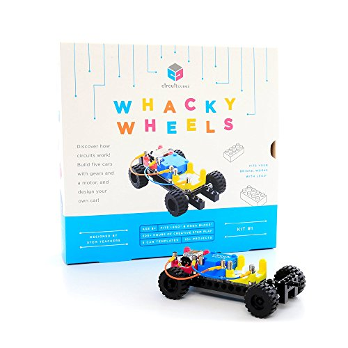 Circuit Cubes Whacky Wheels Kit Educational Stem Toy Creative Discovery Set, Multicolor