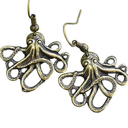 Steampunk Octopus Nautical Pirate Earrings Pendant Charm
