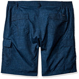 LEE Men's Big and Tall Performance Cargo Short, Navy Textured Dot, 44