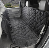 4Knines Dog Seat Cover With Hammock for Full Size Trucks and Large SUVs - Black Extra Large - USA Based Company