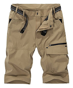 Vcansion Men's Summer Outdoor flimsy Loose Shorts Sports Casual Shorts Khaki US 36/Label 4XL