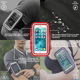 Tribe Water Resistant Cell Phone Armband for iPhone 8, 7, 7S, 6, 6S, SE, 5 and Samsung Galaxy S9, S8, S7, S6 Phones with Adjustable Elastic Velcro Band & Key Holder for Running, Walking
