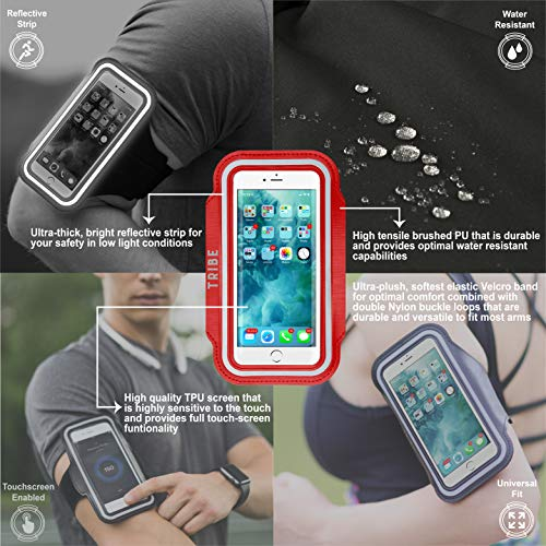 4cc3d7454 ... Tribe Water Resistant Cell Phone Armband for iPhone 8