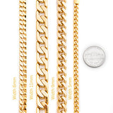 Lifetime Jewelry Cuban Link Bracelet 11mm, Flat Wide, 24K Gold Over Semi-Precious Metals, Fashion Jewelry, 24K Overlay, Thick Layers Help Resist Tarnishing, 8 Inches