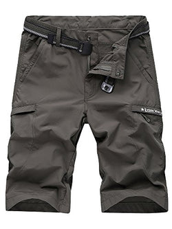 Men's Outdoor Expandable Waist Lightweight Quick Dry Shorts Army Green L - US 30