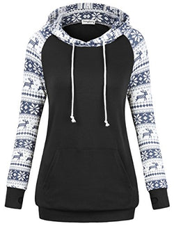 SUNGLORY Hoodies for Juniors,Casual Sweaters for Women Knitted Blouse