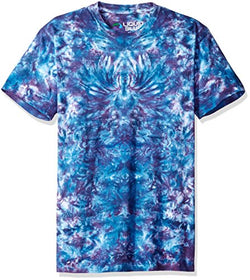 Liquid Blue Men's Crazy Blue Krinkle Tie Dye Short Sleeve T-Shirt, Tie Dye/Multi, 2XL