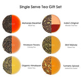 Assorted Tea Bags Sampler (30 Tea Bags) - Tea Sampler - Black Tea, Green Tea, Oolong Tea, Chai Tea, Herbal Tea - Pyramid Tea Bags - Finest Tea Gift Set