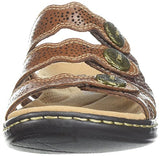 Clarks Women's Leisa Grace Platform, Brown/Multi Leather, 9 Medium US