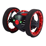 Amiley 2.4GHz Wireless Remote Control Jumping RC Toy Bounce Cars Robot Toys Flexible Wheels Rotation For Adult Kids Toy (Black)