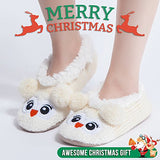 MaaMgic Womens Fuzzy Christmas Animal House Slippers Ladies Cute Bedroom Indoor Knit Winter Slippers