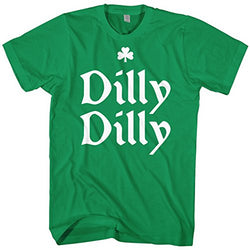 Mixtbrand Men's Dilly Dilly ST. Patrick's Day T-Shirt M Kelly
