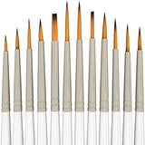 MyArtscape Detail Paint Brush Set - 12 Miniature Brushes for Fine Detailing & Art Painting - Acrylic, Watercolor, Gouache, Oil - Models, Airplane Kits, Ink, Warhammer 40k - Artist Quality Supplies by
