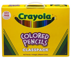 Crayola 688462 Ct Colored Pencil Classpack ,14 Assorted Colors (68-8462)