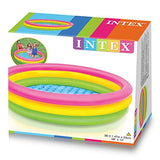 "Intex Kiddie Pool - Kid's Summer Sunset Glow Design - 58"" x 13"""