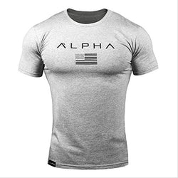 YANGYANGLE Mens Summer Casual Fitness Bodybuilding Male Short Sleeves Slim Fit Cotton T-Shirts